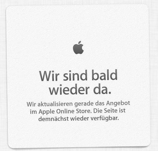 Der Apple Store befindet sich gerade Offline