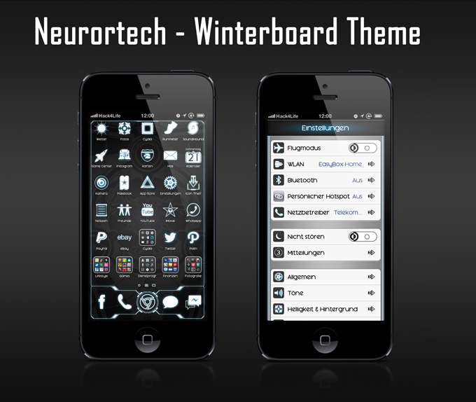 Neurotech - Stylisches Winterboard Theme für dein iPhone - Hack4Life, Test