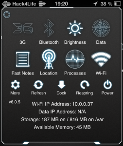 SBSettings Theme von Neurotech