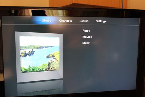 Die zuvor hinzugefügten Bibliotheken findet ihr unter Library, Plex auf dem AppleTV