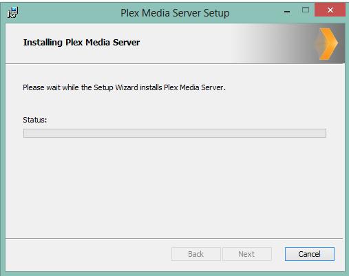 Media Server von Plex wird installiert