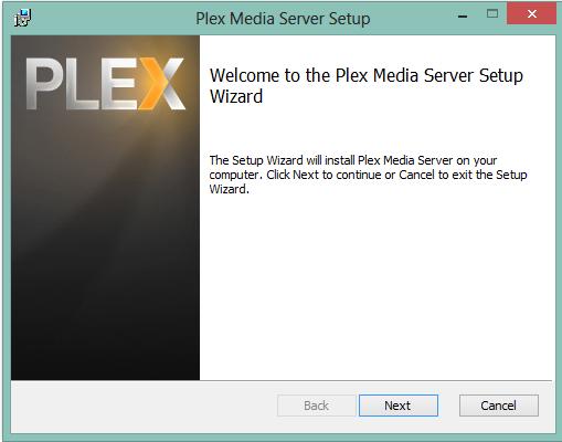 Setup von Plex