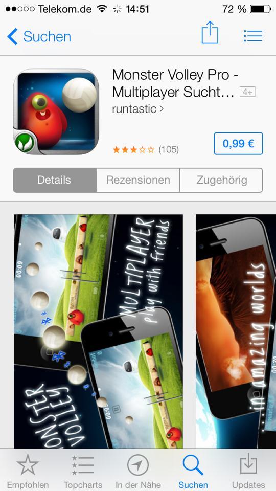 Monster Volley Pro im AppStore - Erneuter Preisanstieg - Hack4Life gibt Antworten