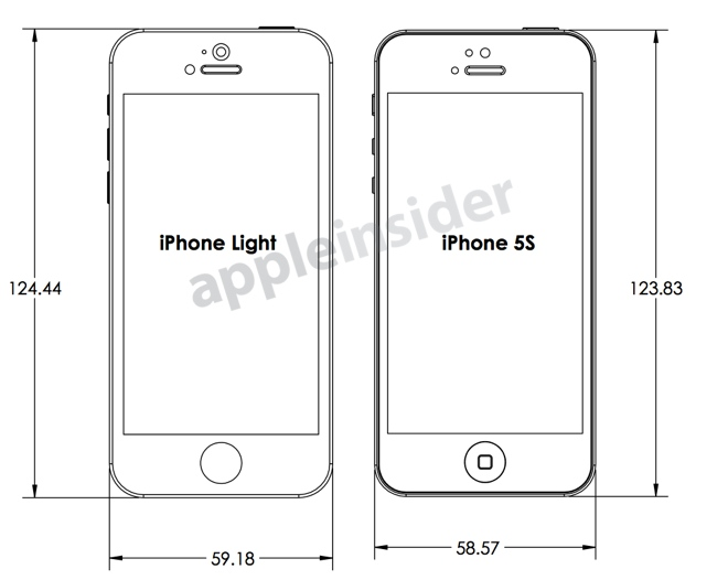 iPhone 5S versus iPhone light im direkten Vergleich