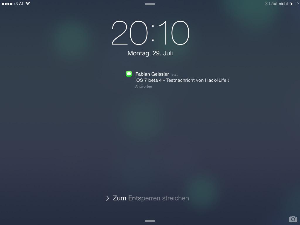 Benachrichtigungen am Lockscreen sind in iOS 7 beta 4 neu - Änderungen - Hack4Life