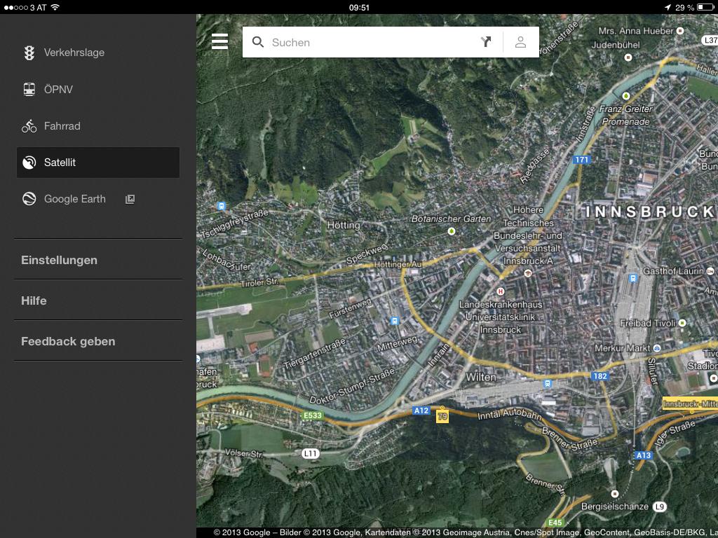Google Maps 2.0 - Menü - Einstellungen vornehmen - Hack4Life