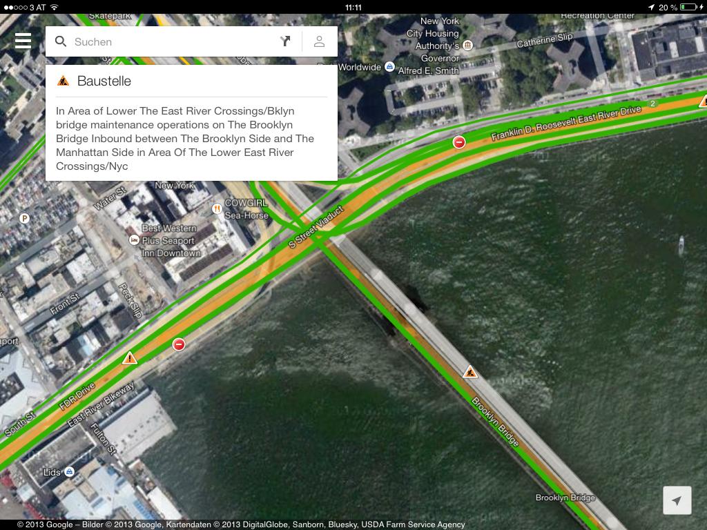 Google Maps 2.0 - iPad Version - Live Updates bei der Verkehrslage - Hack4Life