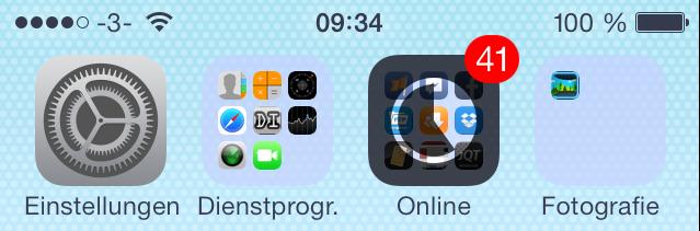 Neue NAimationen beim Installieren bzw. Aktualisieren von Apps in iOS 7 beta 3