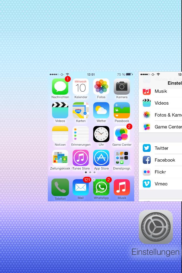 Schnell sein und keinen Fehler machen - Apps verstecken in iOS 7 beta 3 - Bug - Hack4Life