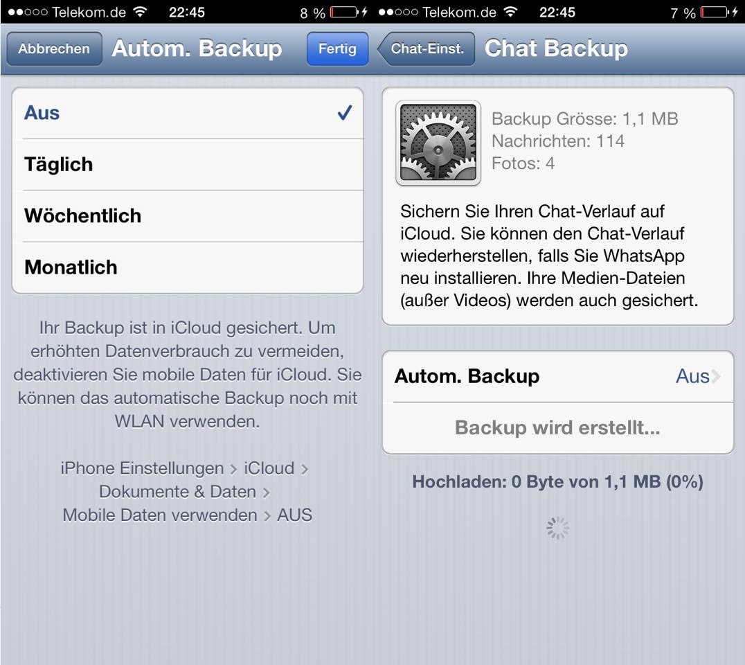Backup in WhatsApp erstellen - How To - WhatsApp Update - Hack4Life
