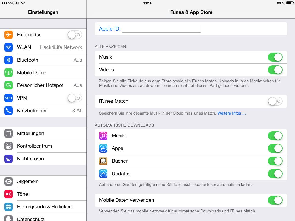 Automatische Updates im App Store - Anleitung - deaktivieren - aktivieren - Hack4Life - iOS 7 - iOS 7 Entschlüsselt - iPhone - iPad - iPod touch