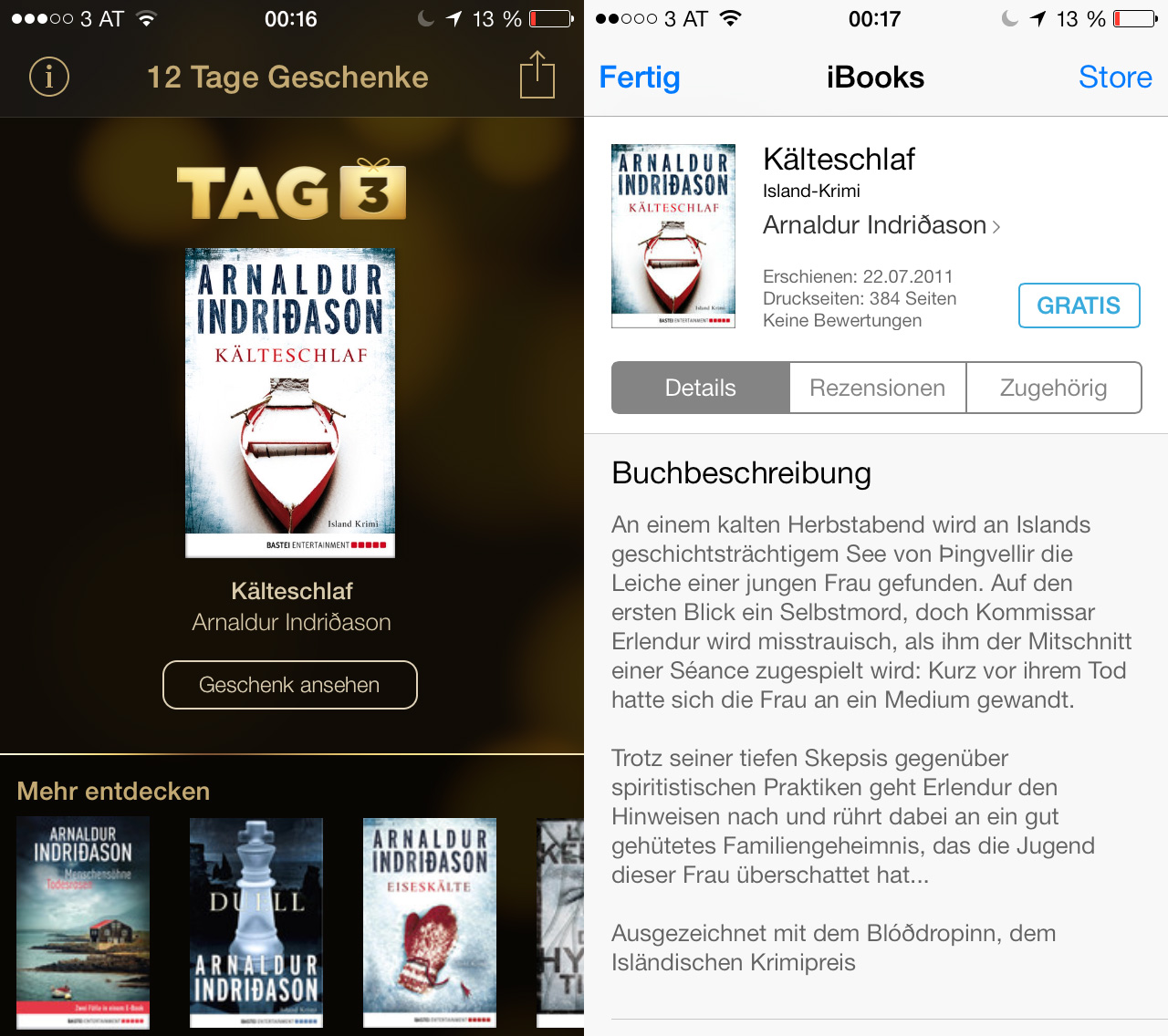 12 Tage Geschenke: Tag 03 – Kälteschlaf - Hack4Life - Immer aktuell
