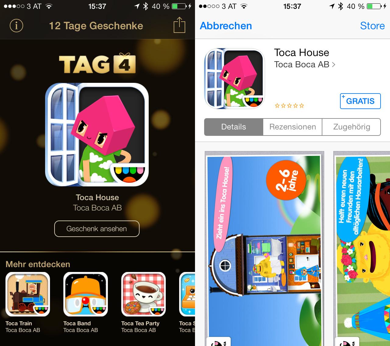 iTunes 12 Tage Geschenke App: Tag 04 - Toca House, App, Spiel, kostenlos, download, review, Hack4Life, Fabian Geissler