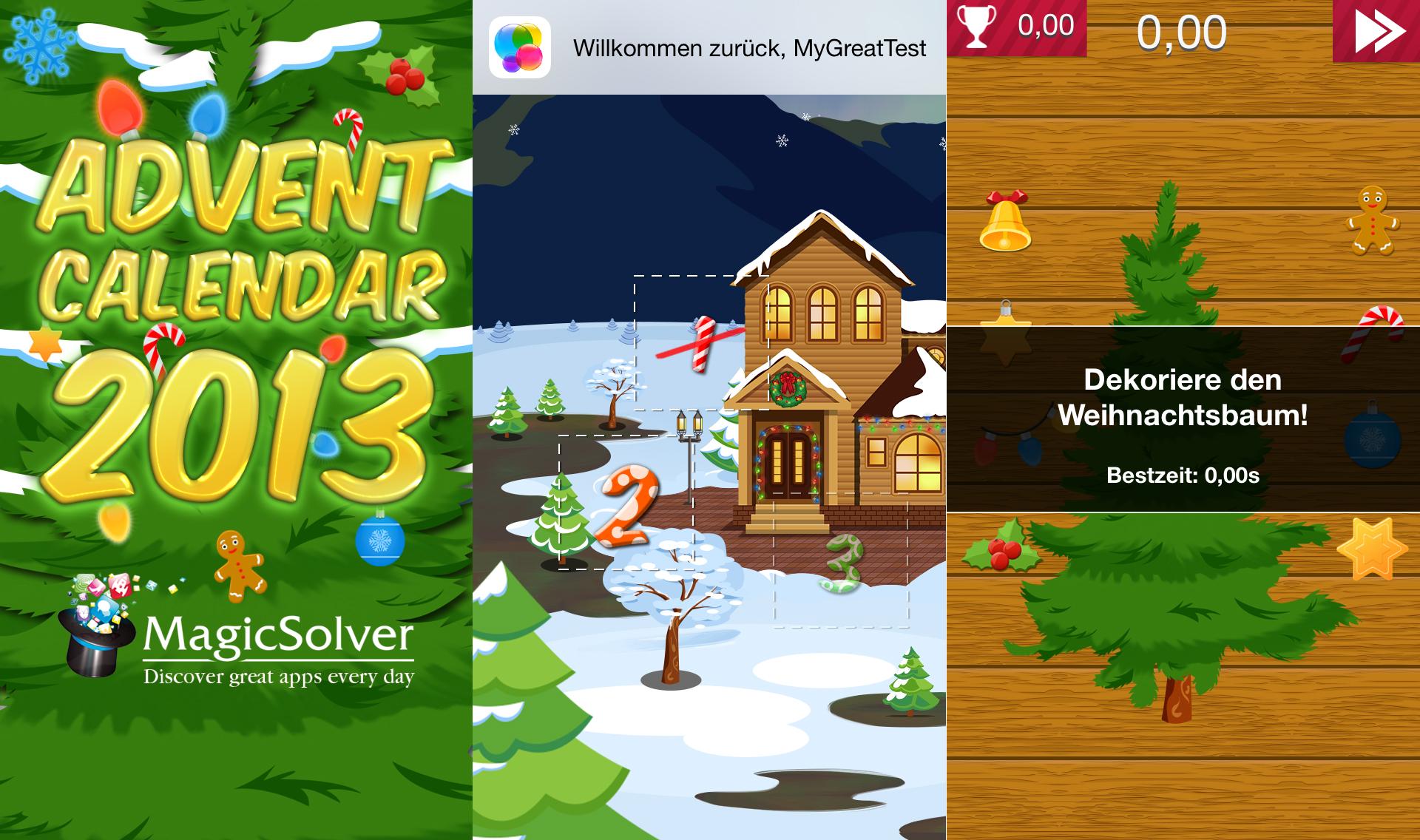 Adventskalender 2013 - Review von Hack4Life - Review - App - kostenlos - download - appstore - MyGreatTest - GameCenter