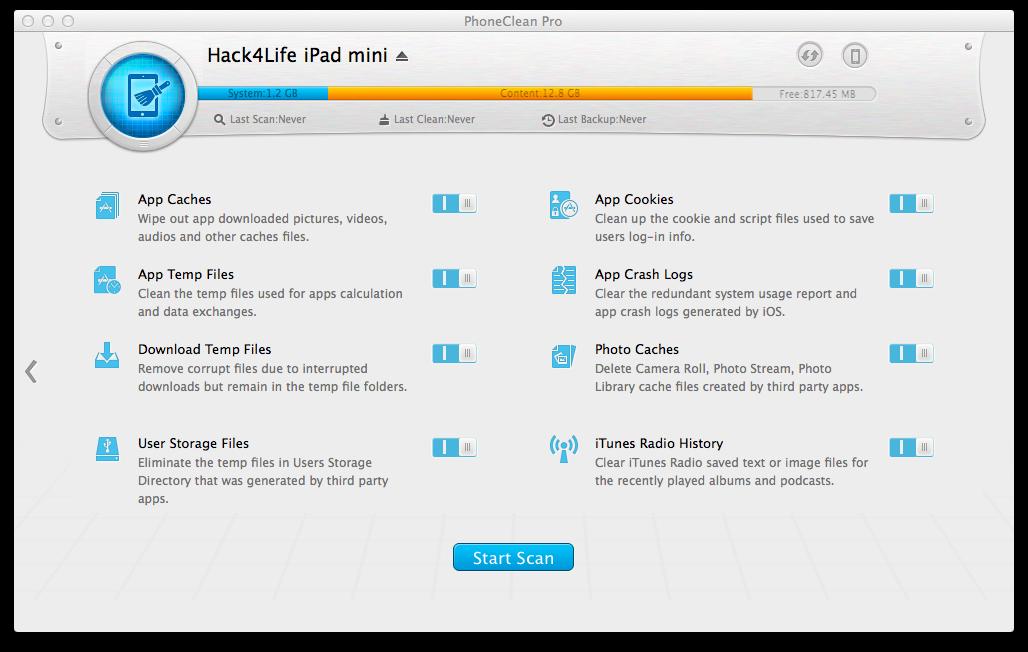 PhoneClean, Review, Hack4Life, Gewinnspiel, Funktionen, Download, iMobie, QuickClean, Anleitung