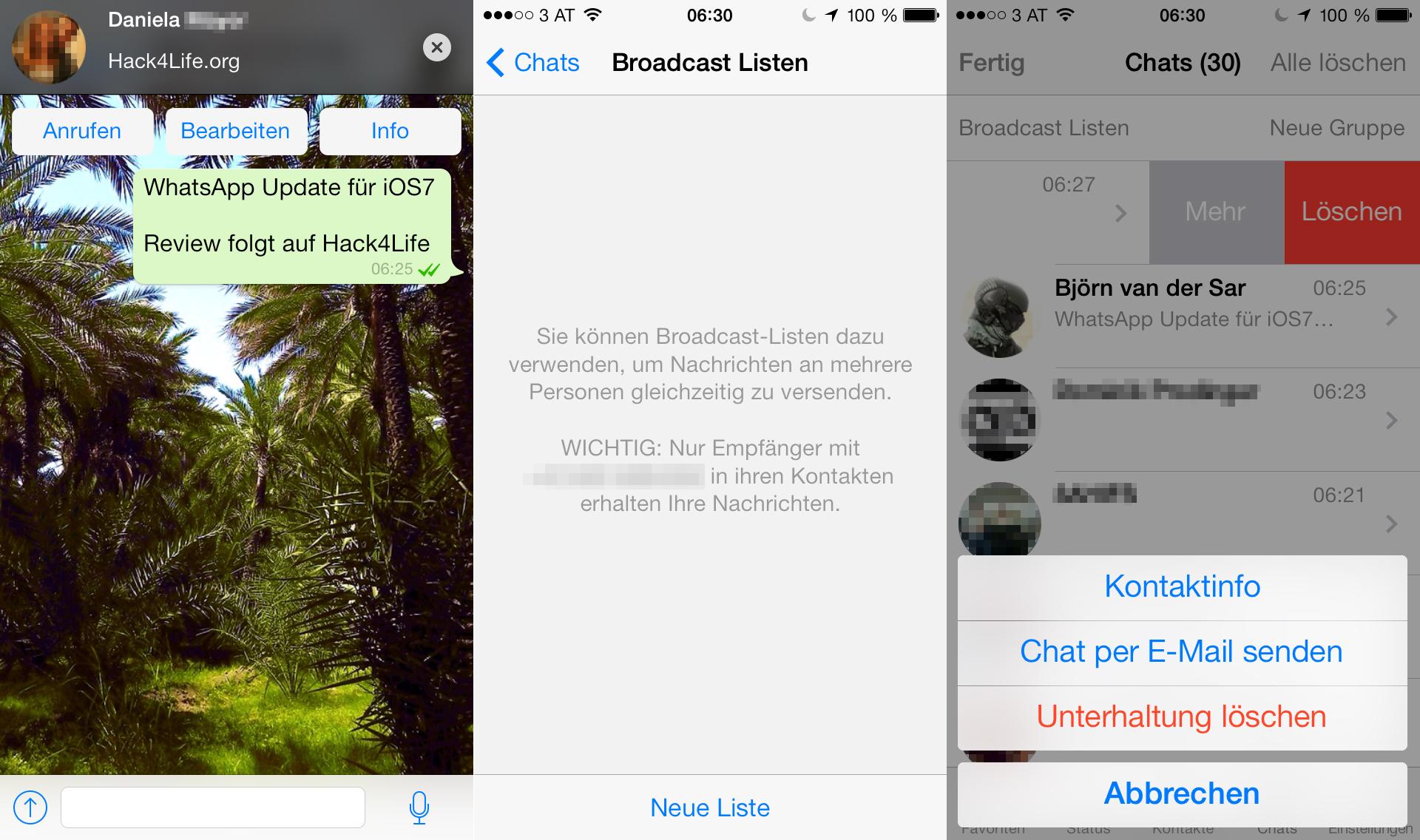 Neue Features von WhatsApp - Neue Funktionen - Broadcast Listen - Benachrichtigungen - Bearbeiten von Chats - Review - Hack4Life - Immer Aktuell