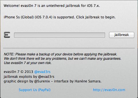 evasi0n7, iphone 5s, iOS 7.0.4, jailbreak, Anleitung, Hilfe, cydia, absturtz, how-to