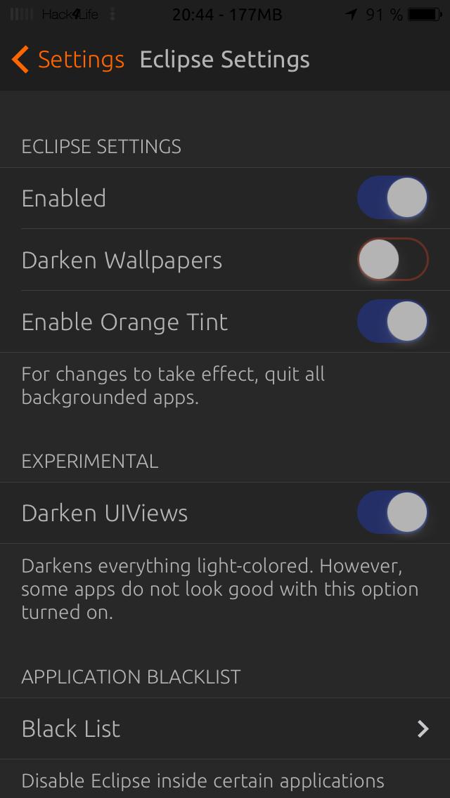 Eclipse, Einstellungen, Cydia, Tweak, Hack4Life, Fabian Geissler