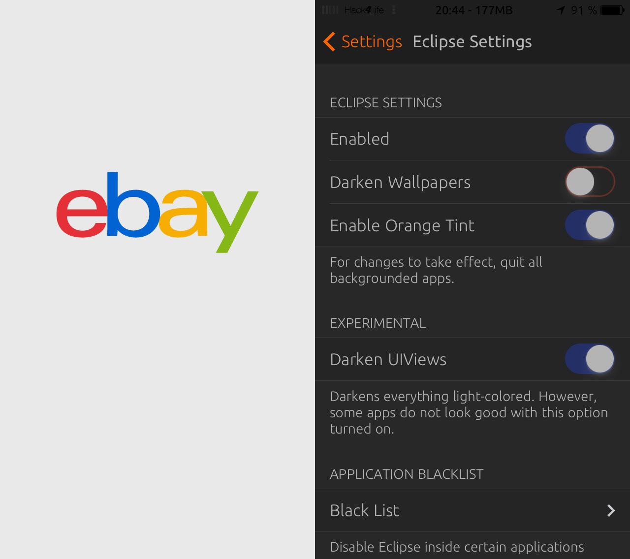 Abstürze bei der eBay Mobile App beheben, Anleitung, Review, Bericht, Test, Tweak, Cydia, Hack4Life, Fabian Geissler