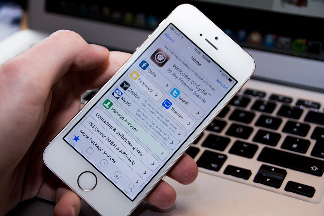 Cydia, iOS 7, iPhone 5s, Gold, MacBook air, Fabian Geissler, Hack4Life