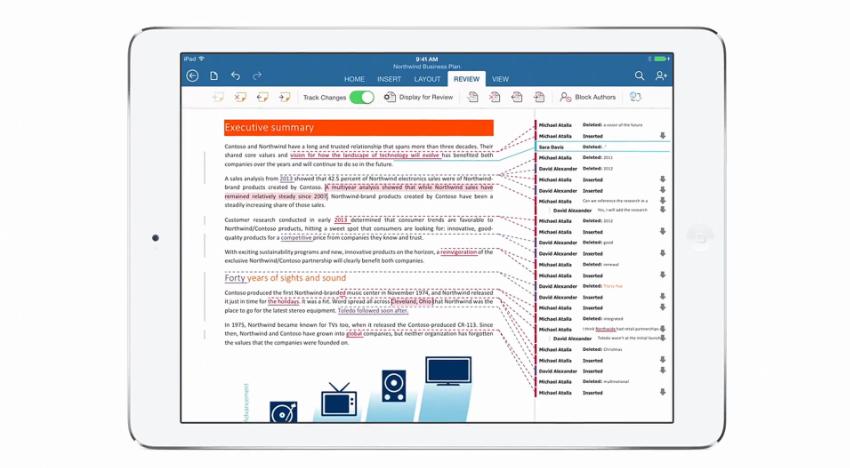 Änderungen von mehreren Benutzern, Microsoft Office für das iPad, Hack4Life - Review von Fabian Geissler