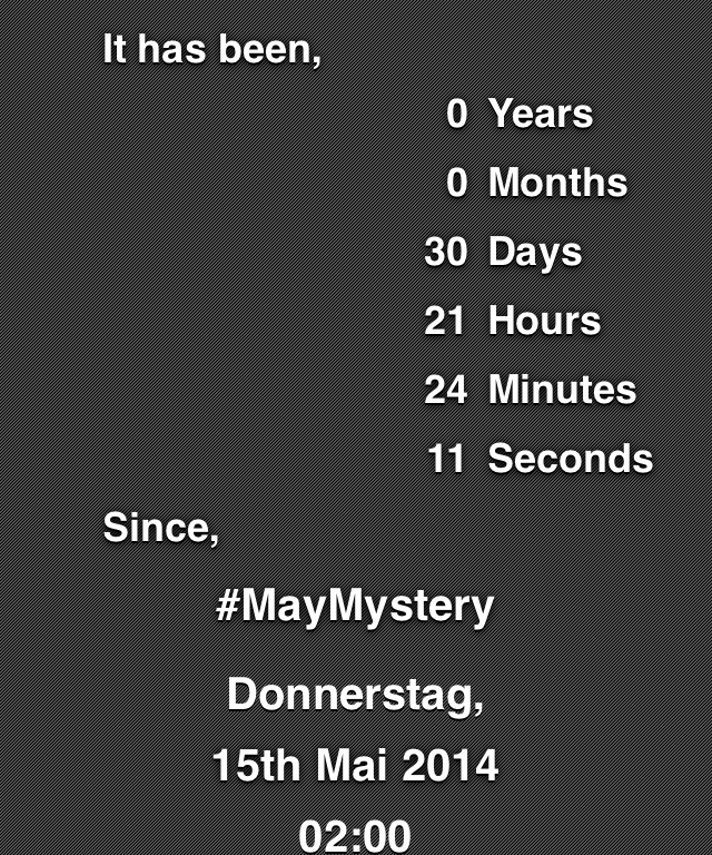 Hack4Life, Fabian Geissler, #MayMystery, Facebook, Selbstexeriment, Selbstversuch, Spam, Countdown, App, iOS, iPhone
