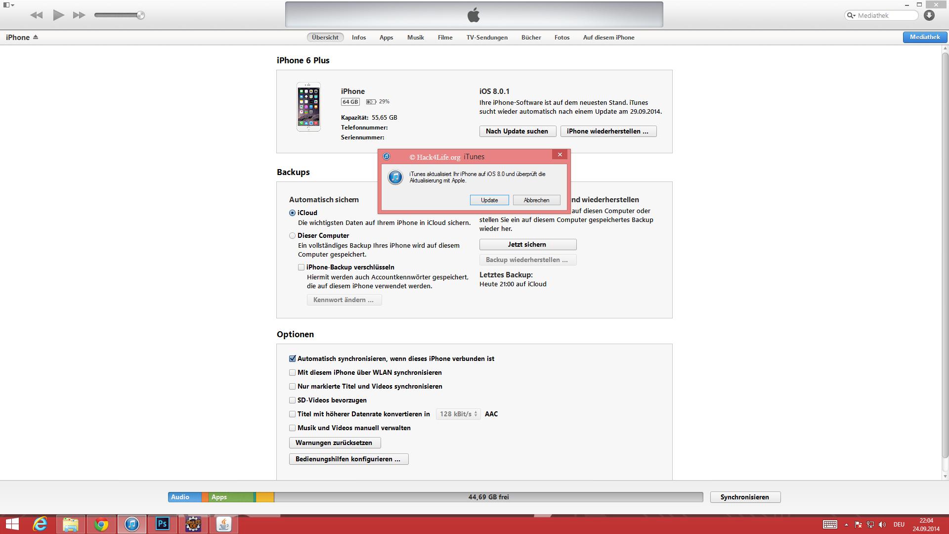 iOS 8.0.1 Probleme schnell und einfach ohne Datenverlust beheben, Hack4Life, Fabian Geissler, Datenverlust, Update, Apple