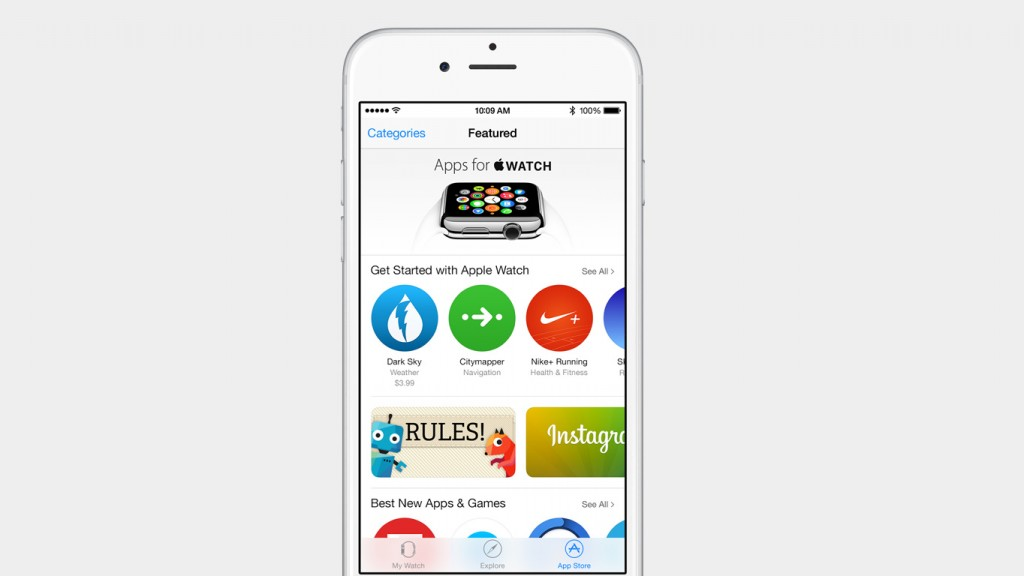 Der AppleWatch AppStore in der Apple Watch App auf dem iPhone unter iOS 8.2, Hack4Life, Fabian Geissler, Apple, San Francisco, iOS 8.2