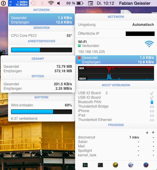 Netzwerk Traffic auf dem MacBook, Hack4Life, Fabian Geissler, #SEOffline