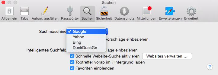 4 Suchmaschinen stehen zur Auswahl, MacBook, Apple, OS X, Fabian Geissler, Hack4Life, #SEOffline, Selbstexperiment