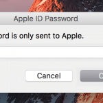 AppleID Passwort Eingabe