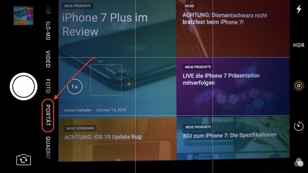 Porträt Modus beim iPhone 7 Plus, Fabian Geissler, Hack4Life