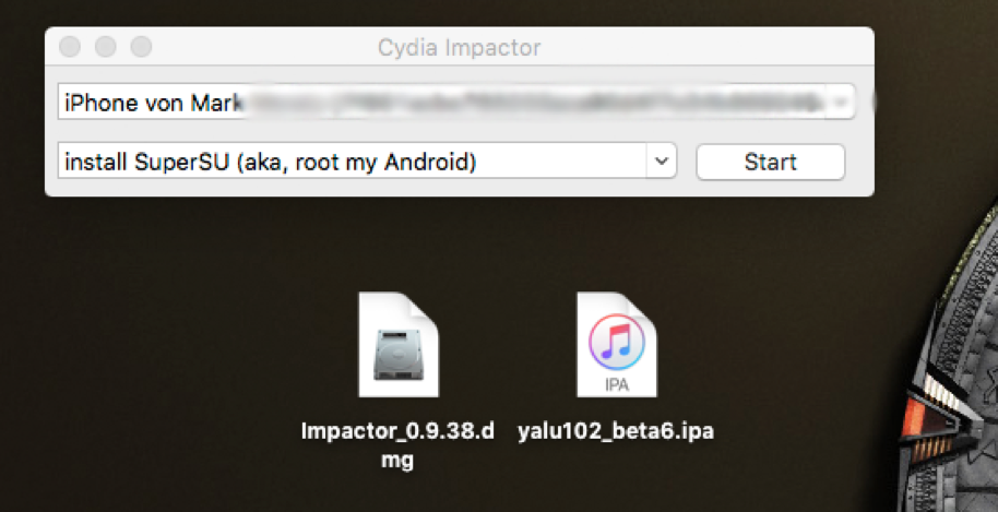 Yalu mittels Cydia Impactor installieren, Fabian Geissler, Hack4Life, Yalu, Jailbreak, iOS 10.2, beta 6, Yalu102