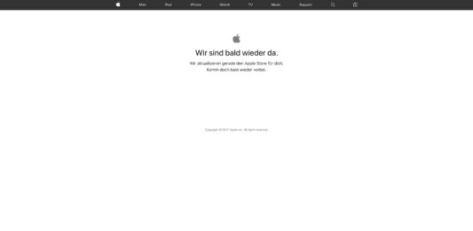 Apple Store Offline vor WWDC17