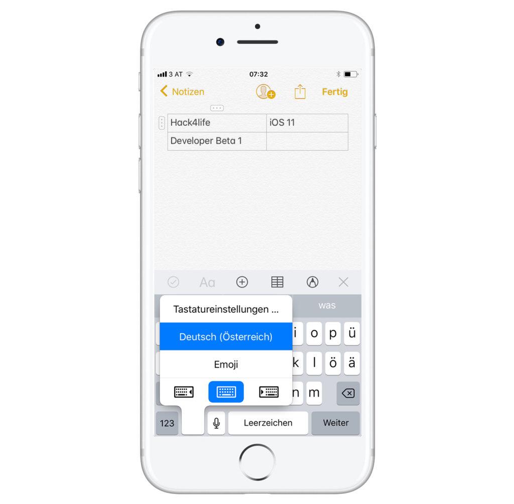 Einhand-Tastatur über die Tastatur aktivieren in iOS 11 auf dem iPhone - Hack4Life