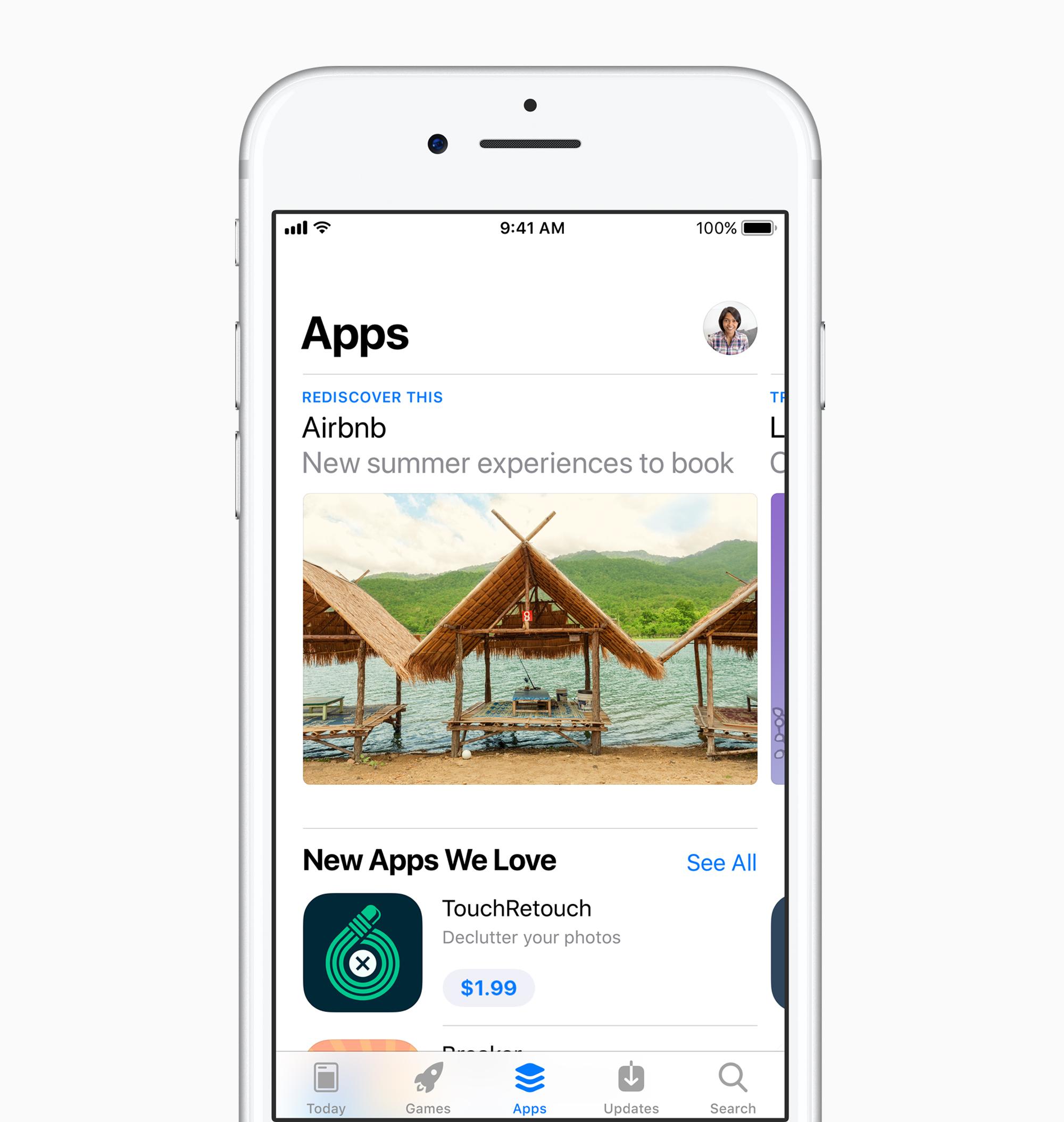 Apps Ansicht, AppStore in iOS 11