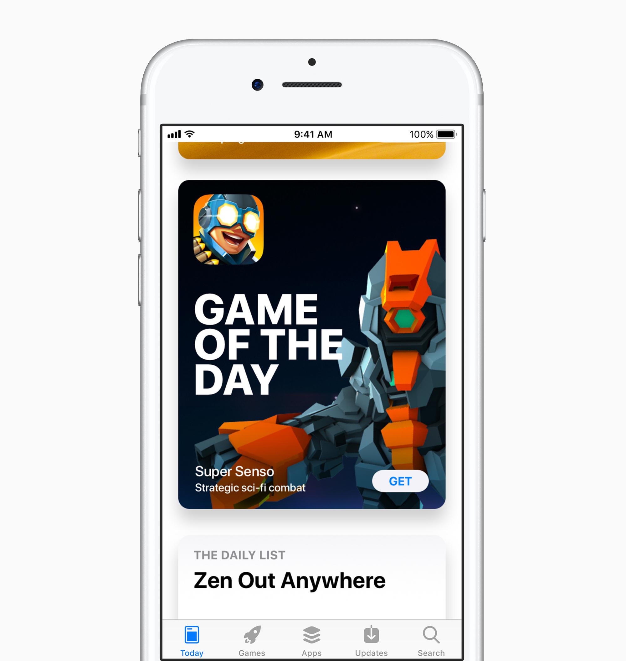 Heute Ansicht, AppStore in iOS 11