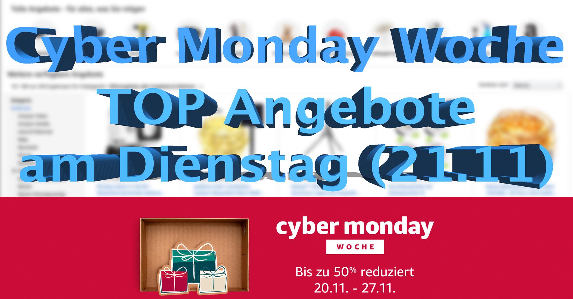 Cyber Monday Woche: Top Angebote am Dienstag - Hack4Life
