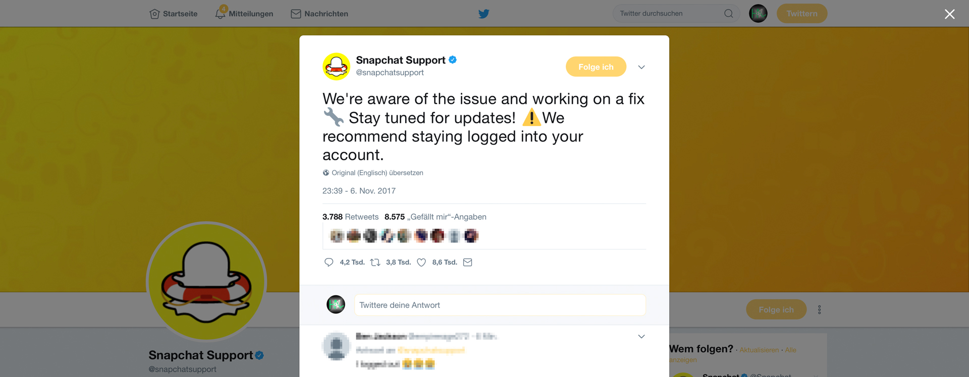 Ist Snapchat offline? Hack4Life berichtet, Fabian Geissler