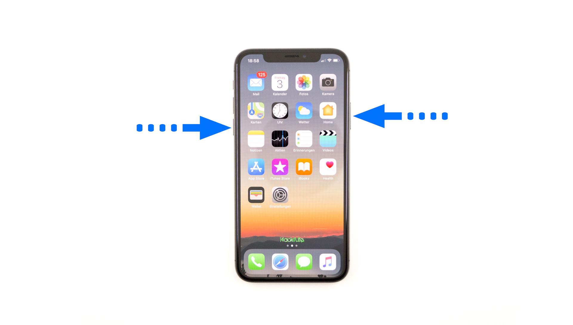 Shortcut für Notruf SOS auf dem iPhone X, Hack4Life, Fabian Geissler