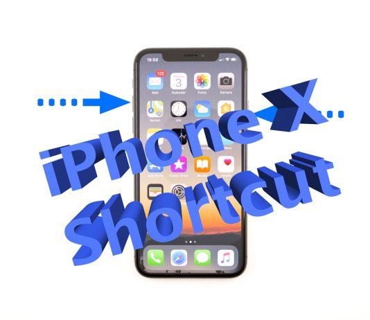 Screenshot auf dem iPhone X erstellen, Shortcut, Anleitung, How To, Hack4Life, Fabian Geissler
