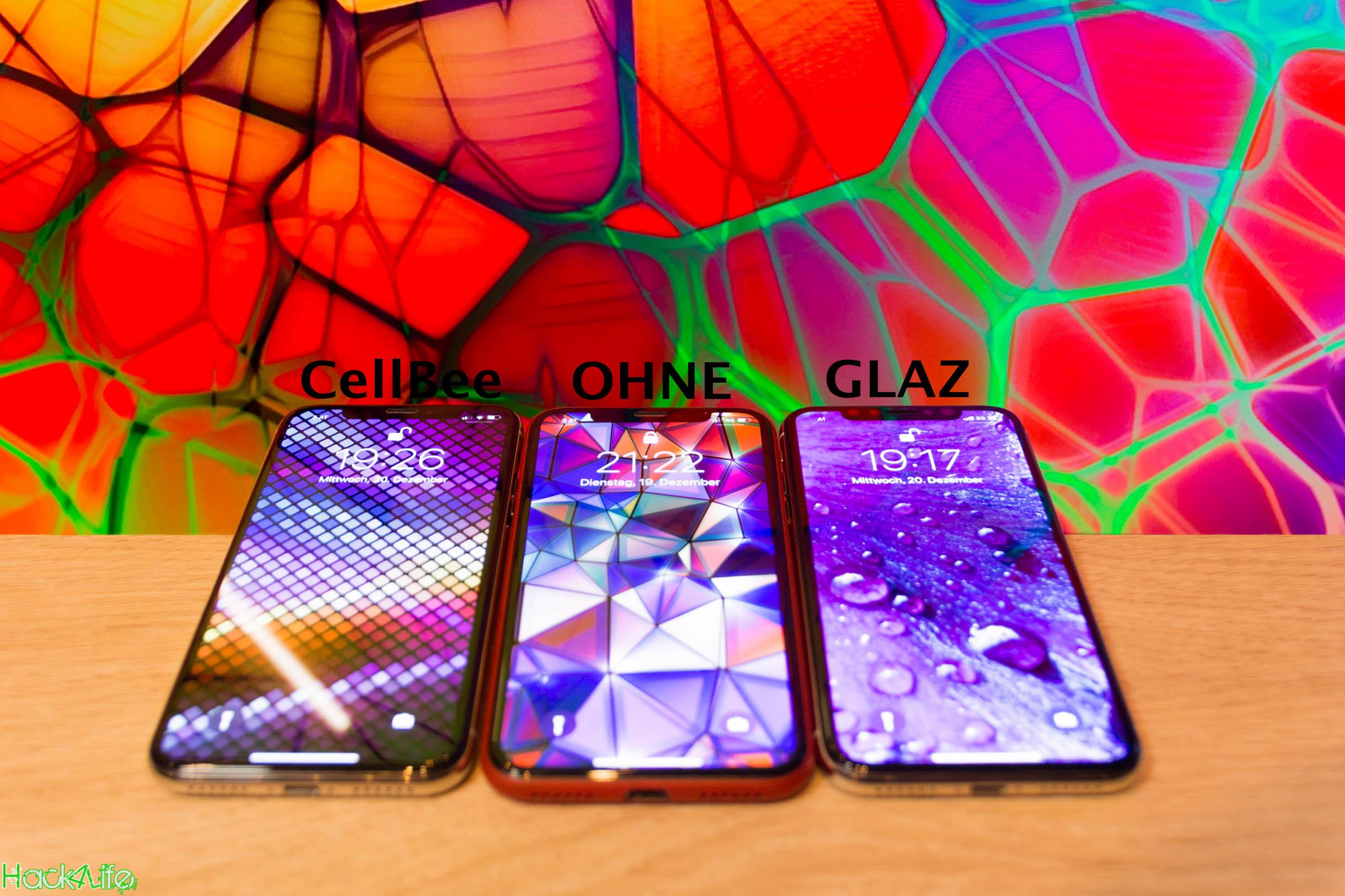 CellBee vs. GLAZ, iPhone X, Direkter vergleich, Hack4Life, Fabian Geissler