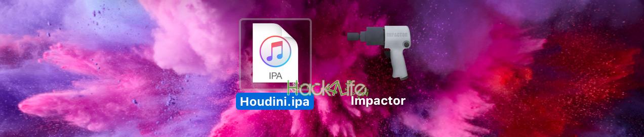Houdini_release.ipa in Houdini.ips umbenennen, Hack4Life, Fabian Geissler, Anleitung, Jailbreak, iOS 10.x