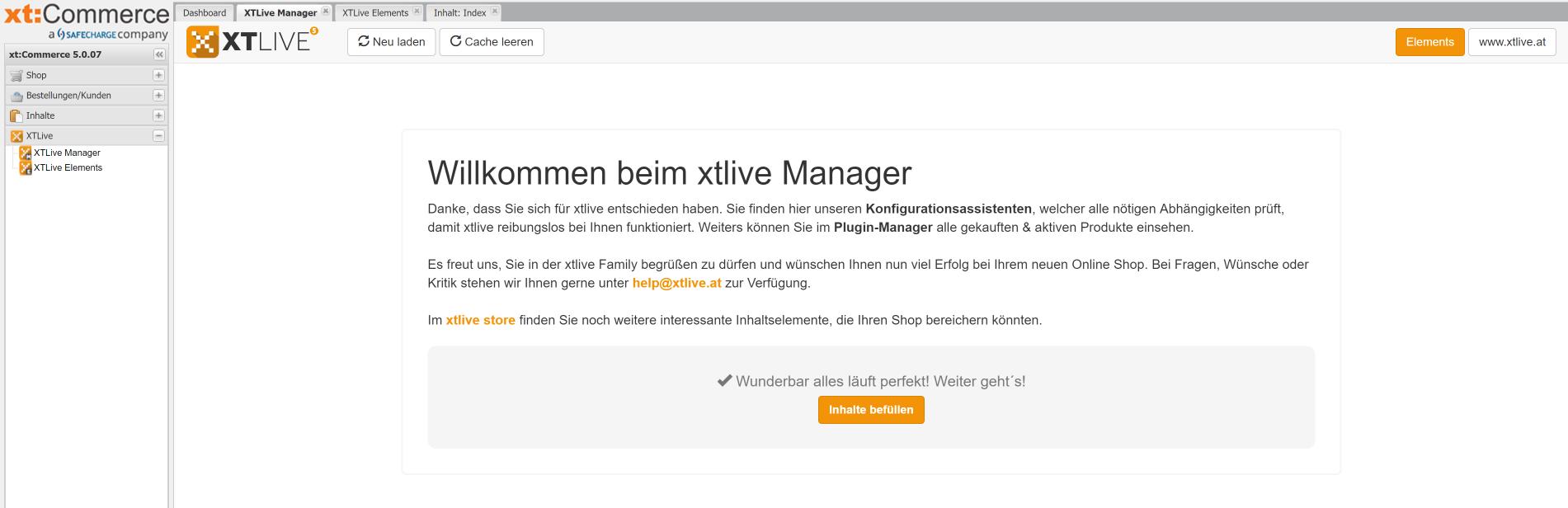 xtlive manager, xt:commerce, xtlive, Hack4Life, Fabian Geissler, XeroGrafiX, xgx, Test, CMS, Baukastensystem