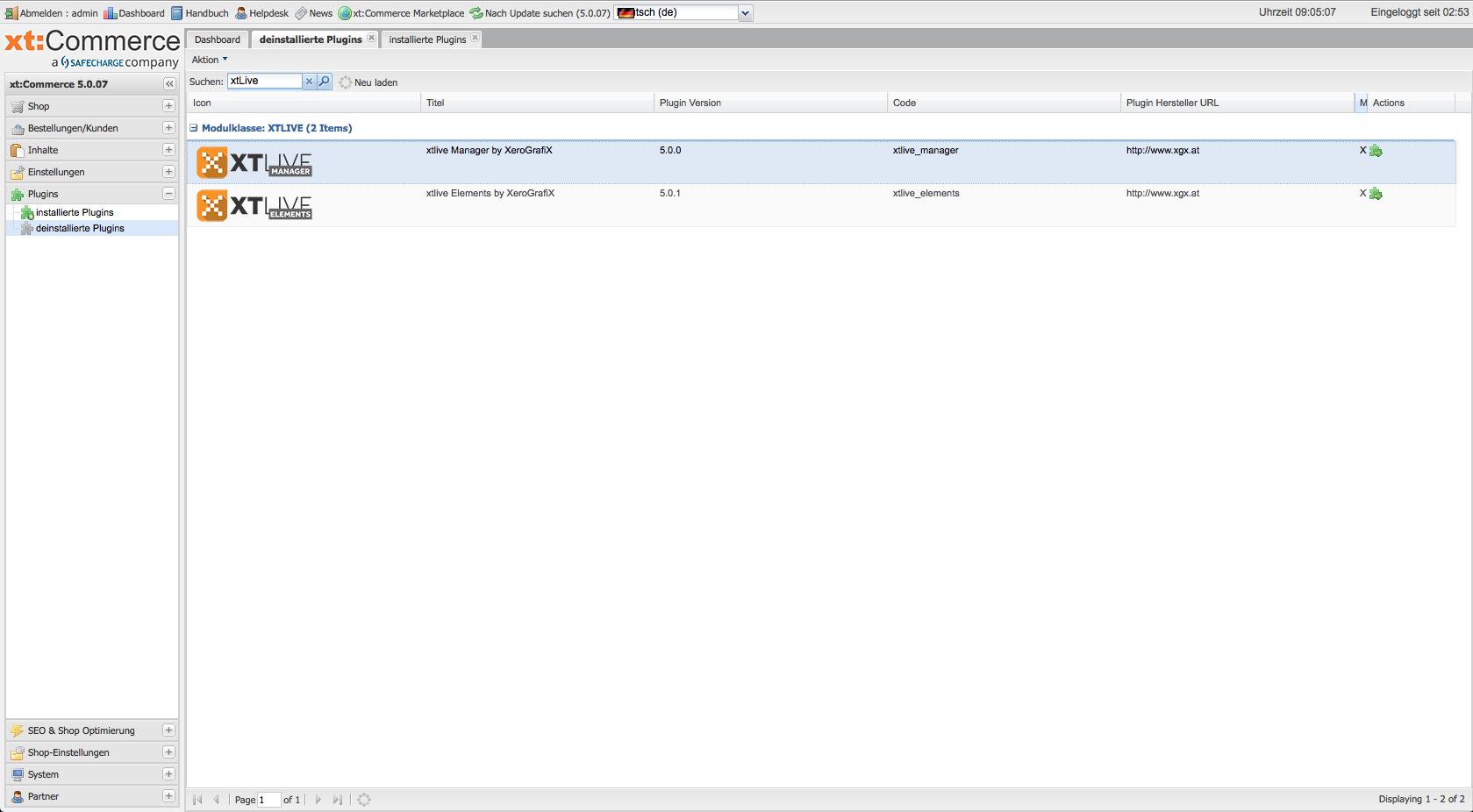 xtLive Manager und xtLive Elements sind bereits bei xt:commerce 5 enthalten, Hack4Life, Fabian Geissler, Xerografie, Test, CMS