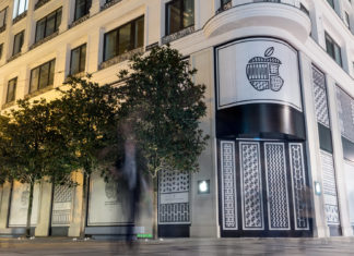 Eingangsbereich Apple Store Kärntnerstraße, Wien, Hack4Life, Fabian Geissler