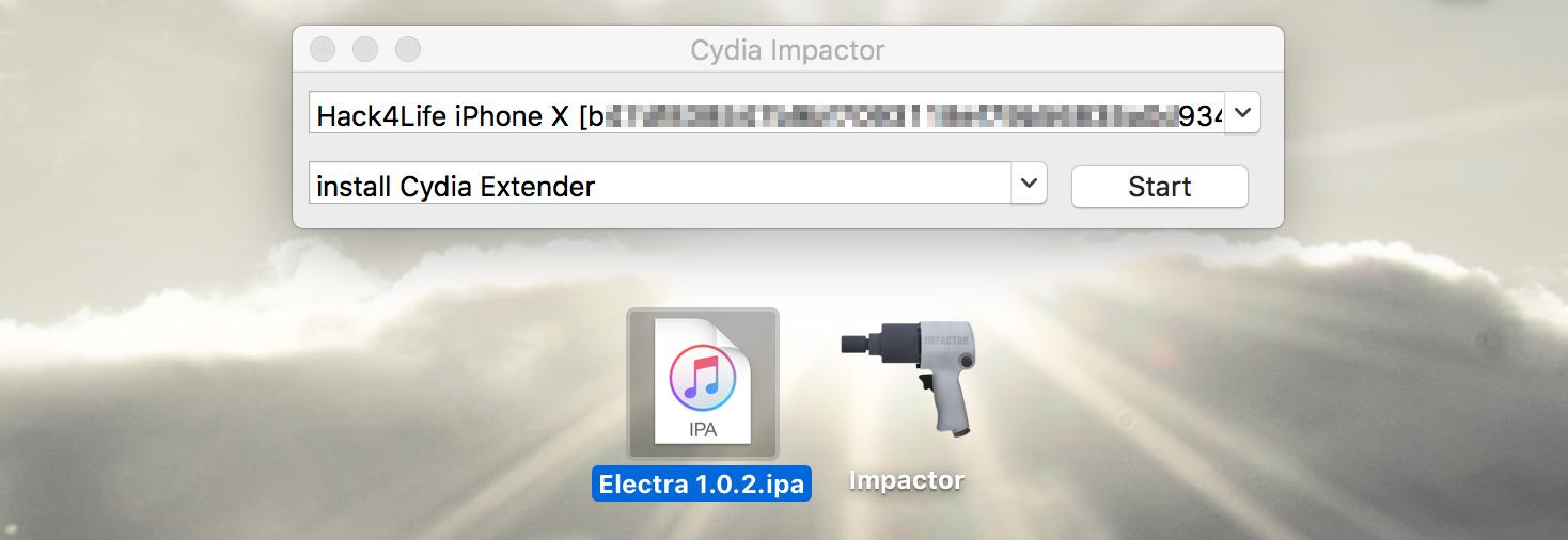 Electra und Impactor starten, iOS 11 Jailbreak Anleitung, Hack4Life, Fabian Geissler