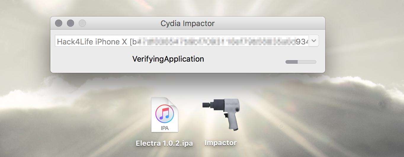 Installation von Electra, Cydia Impactor, Electra iOS 11 Jailbreak Anleitung, Hack4Life, Fabian Geissler