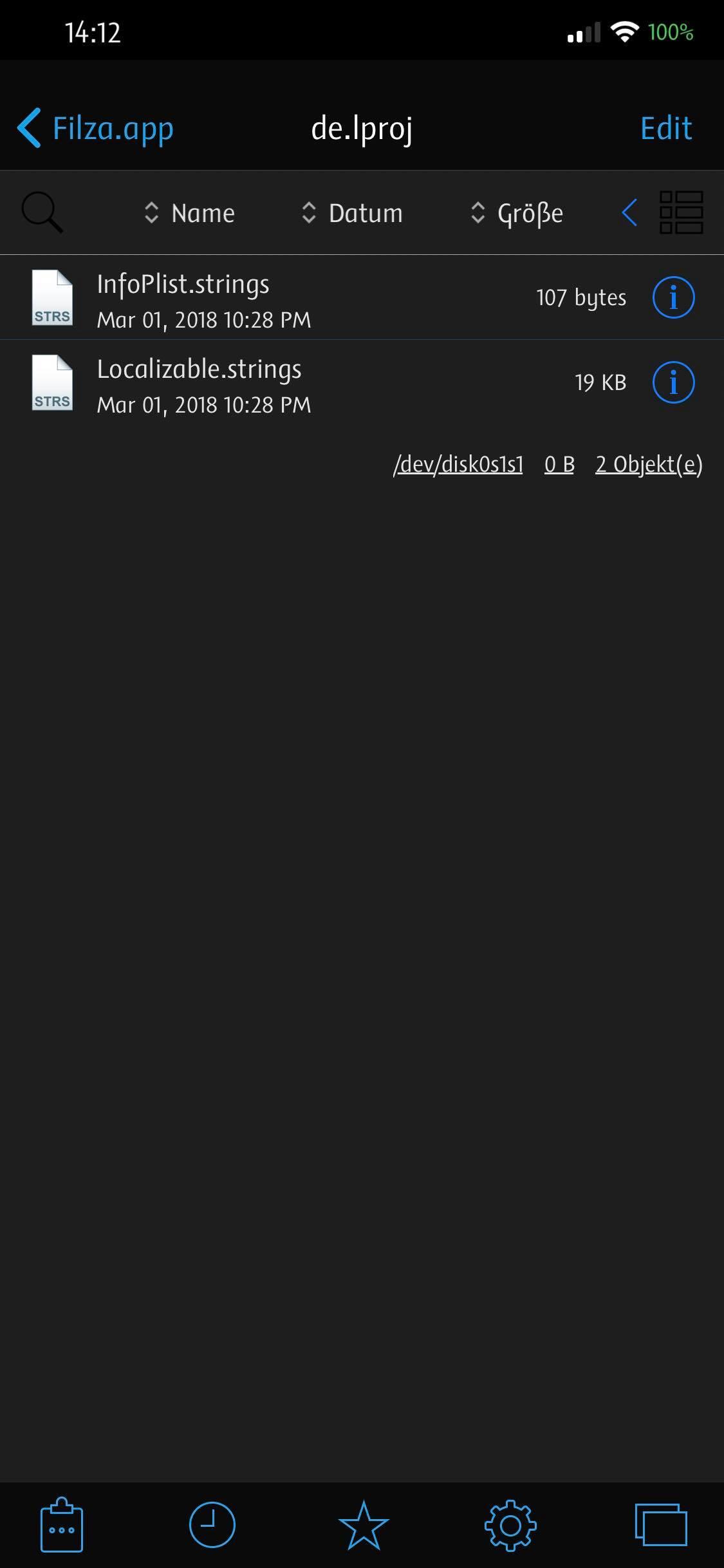 Inhalt von de.lproj, Hack4Life, Filza Electracuted, Fabian Geissler