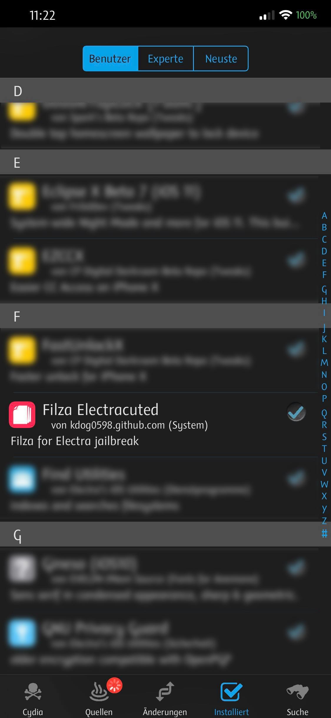 Filza Electracuted in Cydia, Hack4Life, Fabian Geissler, Anleitung
